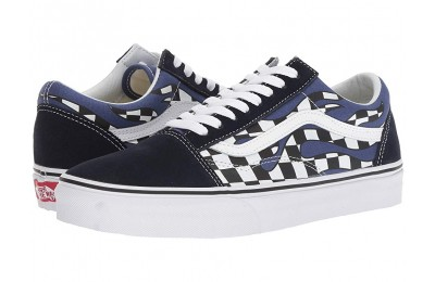 [ Hot Deals ] Vans Old Skool™ (Checker Flame) Navy/True White
