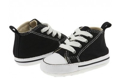 [ Black Friday 2019 ] Converse Kids Chuck Taylor® First Star Core Crib (Infant/Toddler) Black/White
