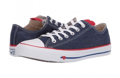 Hot Sale Converse Chuck Taylor® All Star® Denim Love Ox Indigo/Enamel Red/White