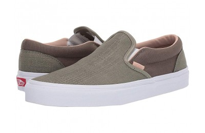[ Hot Deals ] Vans Classic Slip-On™ (Texured Suede) Laurel Oak/Grape Leaf