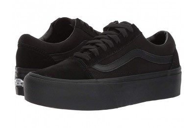 [ Hot Deals ] Vans Old Skool Platform Black/Black