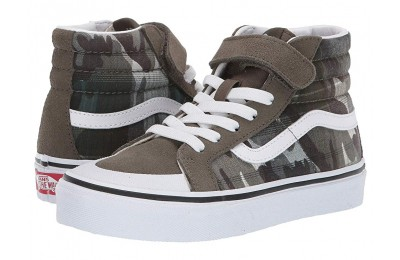 [ Hot Deals ] Vans Kids SK8-Hi Reissue 138 V (Little Kid/Big Kid) (Plaid Camo) Grape Leaf/True White