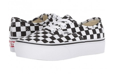 Christmas Deals 2019 - Vans Authentic Platform 2.0 Checkerboard/True White