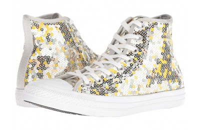 Hot Sale Converse Chuck Taylor All Star Sequined - Hi Pure Silver/Gold/White