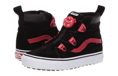 Christmas Deals 2019 - Vans Kids SK8-Hi MTE Boa (Little Kid/Big Kid) (MTE) Black/Racing Red