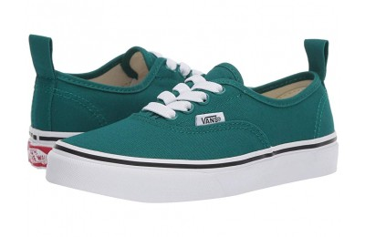 Vans Kids Authentic Elastic Lace (Little Kid/Big Kid) Quetzal Green/True White