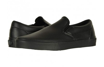[ Hot Deals ] Vans Classic Slip-On™ (Classic Tumble) Black Mono