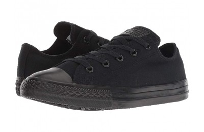 [ Black Friday 2019 ] Converse Kids Chuck Taylor® All Star® Core Ox (Little Kid) Black Monochrome