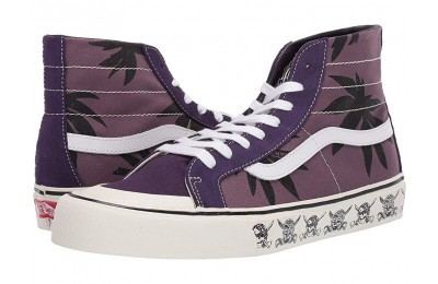 [ Black Friday 2019 ] Vans SK8-Hi 138 Decon SF (Summer Leaf) Black Plum/Mysterioso
