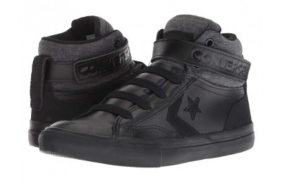 Converse Kids Pro Blaze Strap - Hi (Little Kid/Big Kid) Black/Black/Black
