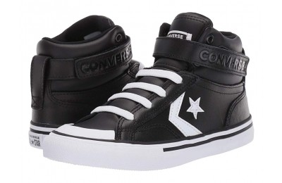 [ Hot Deals ] Converse Kids Pro Blaze Strap - Hi (Little Kid/Big Kid) Black/White/White