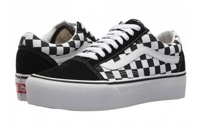 [ Hot Deals ] Vans Old Skool Platform (Checkerboard) Black/True White