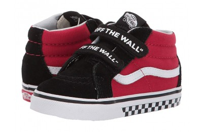 [ Hot Deals ] Vans Kids Sk8-Mid Reissue V (Toddler) (Logo Pop) Black/True White