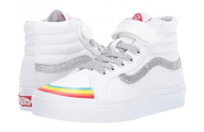 Christmas Deals 2019 - Vans Kids SK8-Hi Reissue 138 V (Little Kid/Big Kid) (Rainbow Toe Cap) True White/Silver