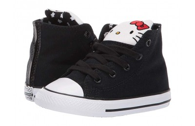 [ Hot Deals ] Converse Kids Hello Kitty® Chuck Taylor® All Star® Hi (Infant/Toddler) Black/Fiery Red/White