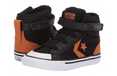 Converse Kids Pro Blaze Strap Back Court Leather - Hi (Infant/Toddler) Black/Monarch/White