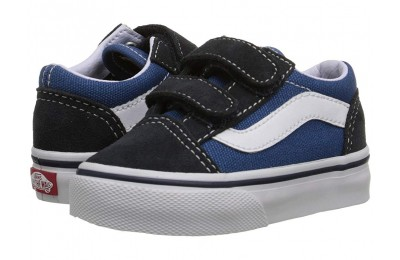 [ Hot Deals ] Vans Kids Old Skool V Core(Toddler) Navy