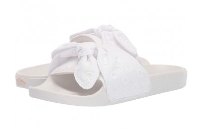 [ Hot Deals ] Vans Slide-On (Cotton Lace) True White