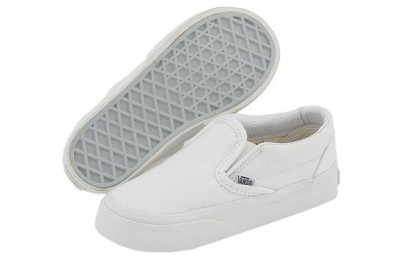 [ Black Friday 2019 ] Vans Kids Classic Slip-On Core (Toddler) True White