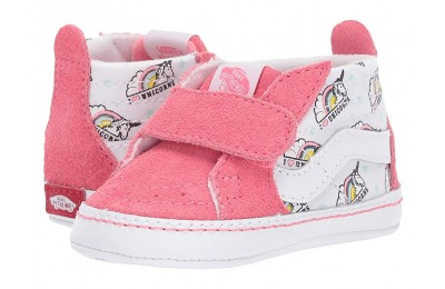 [ Hot Deals ] Vans Kids SK8-Hi Crib (Infant/Toddler) (Unicorn) Strawberry Pink/True White