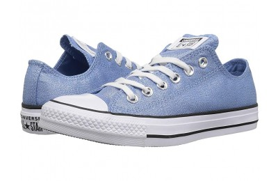[ Hot Deals ] Converse Chuck Taylor All Star - Precious Metals Textile Ox Light Blue/White/Black