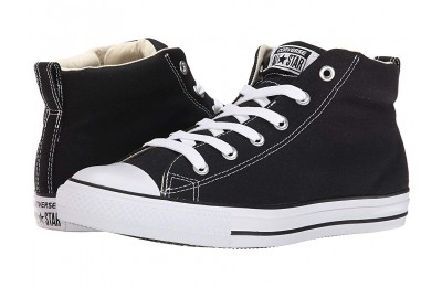 Hot Sale Converse Chuck Taylor® All Star® Street Core Canvas Mid Black/Natural/White