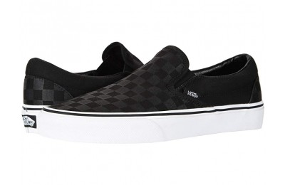 [ Hot Deals ] Vans Classic Slip-On™ Core Classics (Checkerboard) Black/Black