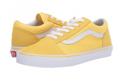 [ Black Friday 2019 ] Vans Kids Old Skool (Little Kid/Big Kid) Aspen Gold/True White