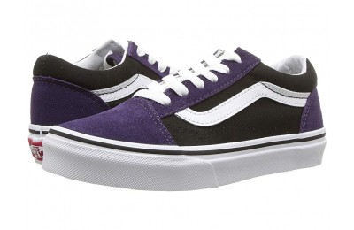 [ Hot Deals ] Vans Kids Old Skool (Little Kid/Big Kid) (Suede) Mysterioso/Black