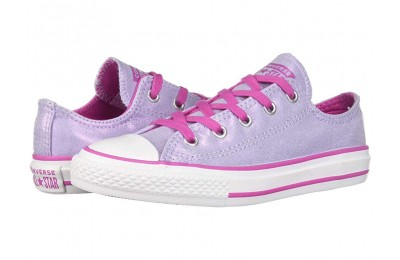 Hot Sale Converse Kids Chuck Taylor All Star Twilight Court - Ox (Little Kid/Big Kid) Oxygen Purple/Active Fuchsia