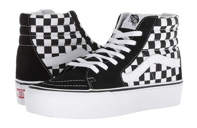 [ Hot Deals ] Vans SK8-Hi Platform 2.0 Checkerboard/True White