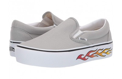 Christmas Deals 2019 - Vans Classic Slip-On Platform (Sidewall Flame) Belgian Block