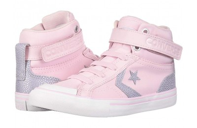 [ Hot Deals ] Converse Kids Pro Blaze Strap - Hi (Little Kid/Big Kid) Pink Foam/Oxygen Purple/White