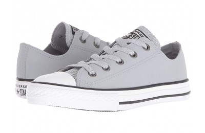 Converse Kids Chuck Taylor All Star Glitter - Ox (Little Kid/Big Kid) Wolf Grey/Black/White