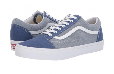 Buy Vans Old Skool™ (Chambray) Canvas True Navy/True White
