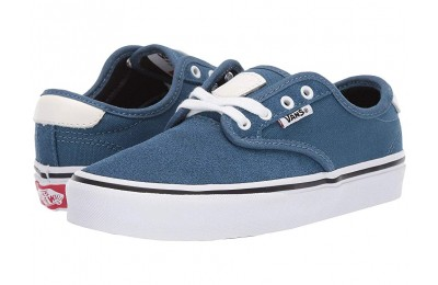 [ Hot Deals ] Vans Kids Chima Ferguson Pro (Little Kid/Big Kid) Blue Ashes/White