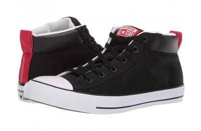 Hot Sale Converse Chuck Taylor® All Star Street Mid Black/White/Enamel Red