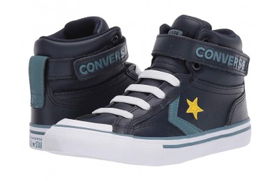 [ Hot Deals ] Converse Kids Pro Blaze Strap - Hi (Little Kid/Big Kid) Obsidian/Celestial Teal/Bold Citron