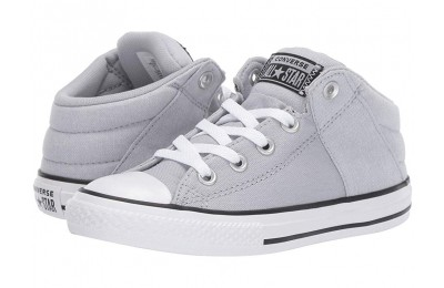 Christmas Deals 2019 - Converse Kids Chuck Taylor All Star Axel Street Urchin + Canvas - Mid (Little Kid/Big Kid) Wolf Grey/White/Black