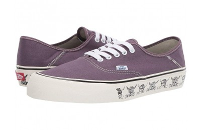 [ Black Friday 2019 ] Vans Authentic SF (Skulls) Black Plum/Marshmallow