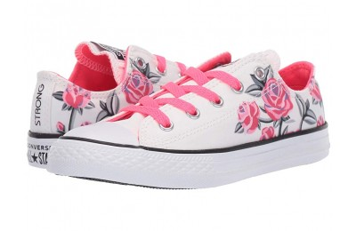 Christmas Deals 2019 - Converse Kids Chuck Taylor All Star Pretty Strong - Ox (Little Kid/Big Kid) White/Racer Pink/Black
