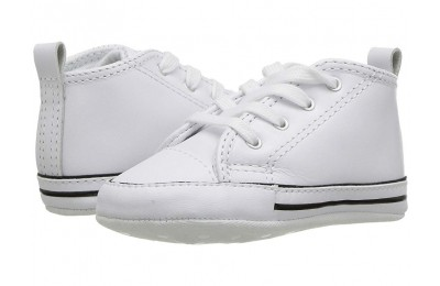 [ Hot Deals ] Converse Kids Chuck Taylor® First Star Core Crib (Infant/Toddler) White Leather