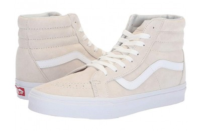 Christmas Deals 2019 - Vans SK8-Hi Reissue (Pig Suede) Moonbeam/True White