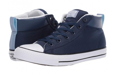 [ Hot Deals ] Converse Chuck Taylor® All Star® Street Uniform Mid Navy/White/Indigo Fog