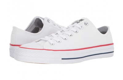 [ Hot Deals ] Converse Skate CTAS Pro Ox Skate (Canvas) White/Red/Insignia Blue