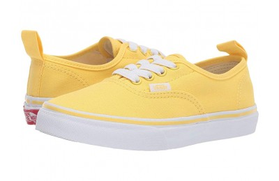 Vans Kids Authentic Elastic Lace (Little Kid/Big Kid) Aspen Gold/True White Black Friday Sale