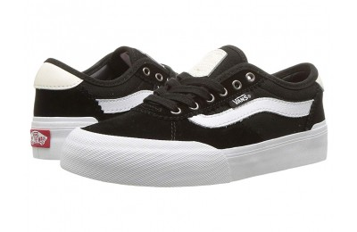 Vans Kids Chima Pro 2 (Little Kid/Big Kid) (Suede/Canvas) Black/White Black Friday Sale