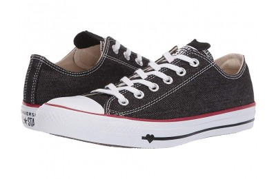 [ Hot Deals ] Converse Chuck Taylor® All Star® Denim Love Ox Black/White/Garnet