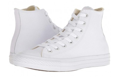 Hot Sale Converse Chuck Taylor® All Star® Leather Hi White Monochrome