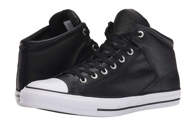 Hot Sale Converse Chuck Taylor® All Star® Hi Street Leather Black/White